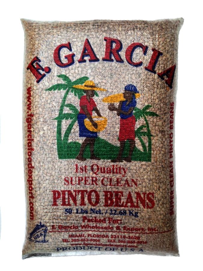 F.Garcia Pinto Beans Original Bag 50 LB (1)